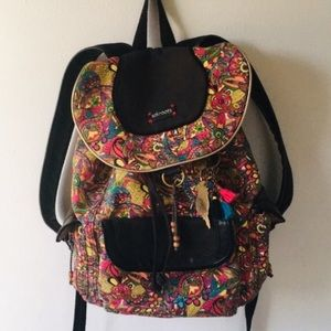 Sakroots Artist Circle Flap Floral Mosaic Backpack